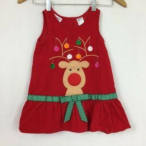 Blueberi Blvd 3T Christmas Dress Red Corduroy
